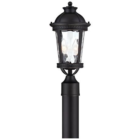 "John Timberland Provence 16 1/2""H Black Outdoor Post Light"