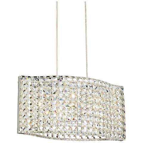 """Possini Euro Keeli Chrome 17 3/4"""" Wide Crystal Pendant Light"""
