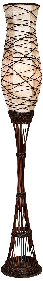 kiefer brown bamboo torchiere floor lamp - Torchiere Lamp
