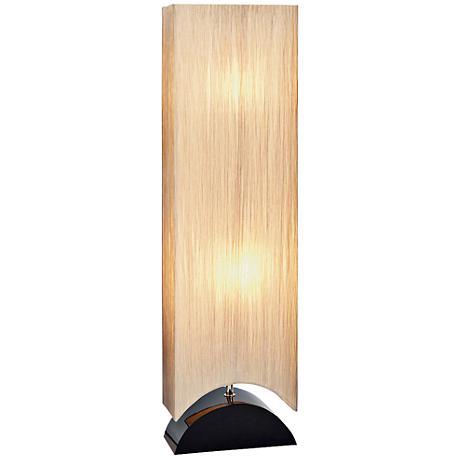 Mako Sleek Black Wood Floor Lamp