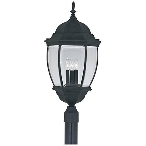 "Tiverton 27 1/2"" High 3-Light Black Outdoor Post Light"