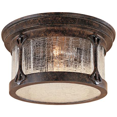 """Canyon Lake 12"""" Wide Tudor Chestnut Outdoor Ceiling Light"""