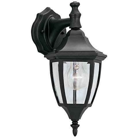 "Builder 14 1/4"" High Top-Mount Black Outdoor Wall Light"