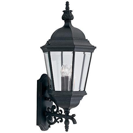 "Builder 30 1/2"" High Traditional Black Outdoor Wall Light"