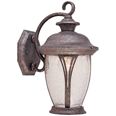 "Westchester 12 3/4"" High Rustic Silver Outdoor Wall Light"