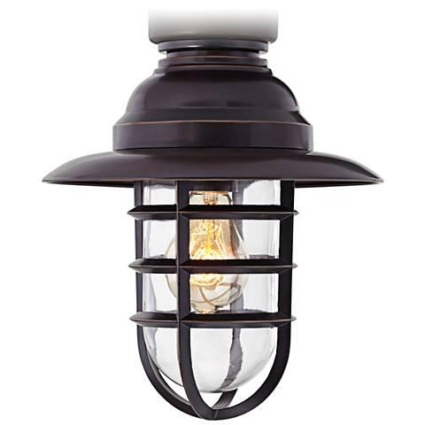 Marlowe Bronze Hooded Metal Cage Ceiling Fan Light Kit