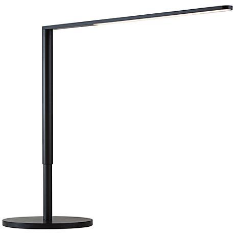 Koncept Lady-7 Metallic Black LED Desk Lamp with USB Port