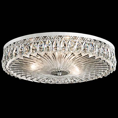 "Schonbek Fontana Luce 18""W Crystal Circle Ceiling Light"