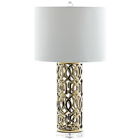 Empress Classical Openwork Gold Ceramic Table Lamp