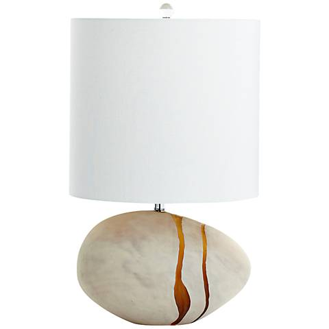 Tiber Small Light Amber Glass 3-Light Table Lamp