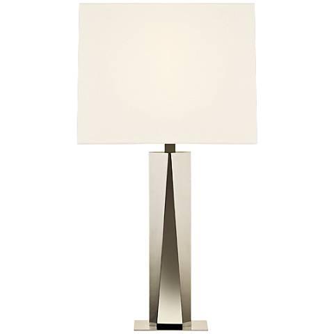 Sonneman Facet Beam Polished Nickel Table Lamp