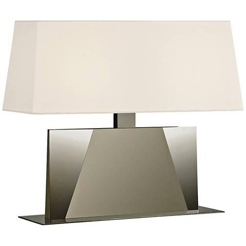 """Sonneman Facet Banquette 18""""H Satin Nickel Accent Table Lamp"""