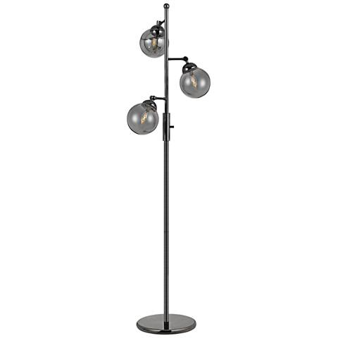 Prato 3-Light Glass Floor Lamp by Cal Lighting