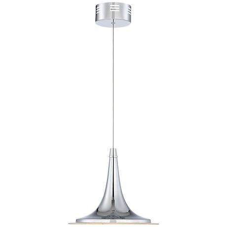"Possini Euro Aliso 12"" Wide Chrome LED Mini Pendant Light"