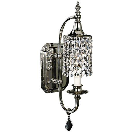 princessa polished silver 17 high wall sconce 9c579 lamps plus. Black Bedroom Furniture Sets. Home Design Ideas