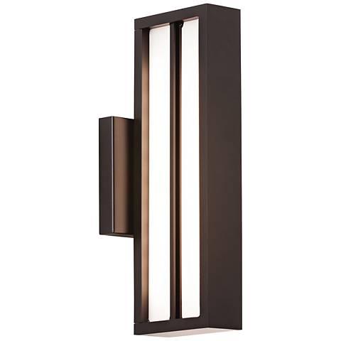 """LBL Aviva 13 1/2"""" High Black LED Outdoor Wall Light"""