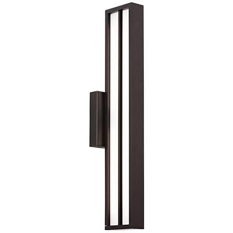 """LBL Aviva 26"""" High Black LED Outdoor Wall Light"""