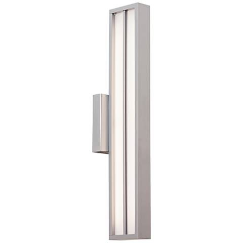 "LBL Aviva 26"" High Silver LED Outdoor Wall Light"