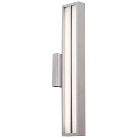 """LBL Aviva 26"""" High Silver LED Outdoor Wall Light"""