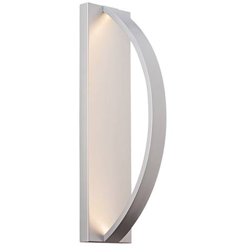 "LBL Hunter 24"" High Silver LED Outdoor Wall Light"