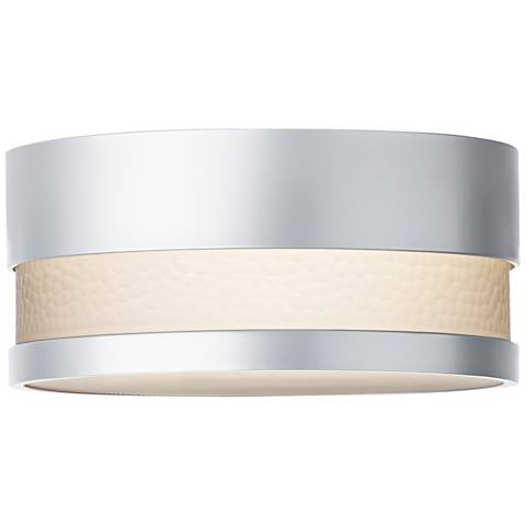 """LBL Moon Dance 13 1/4"""" Wide Silver Outdoor Ceiling Light"""