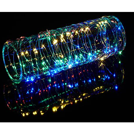 String Lights Lamps Plus : Dew Drop Plug-In 100-LED Multicolor String Light Strand - #9C629 Lamps Plus