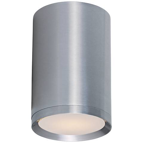 """Lightray 5"""" Wide Brushed Aluminum Outdoor Ceiling Light"""