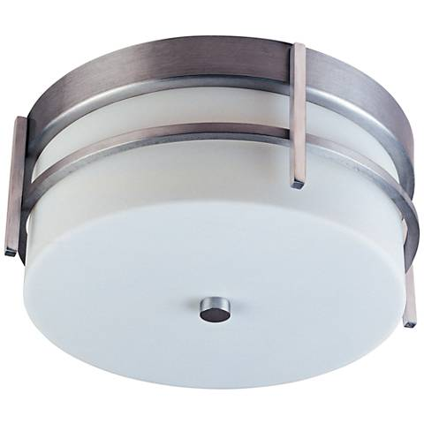 "Maxim Luna 11""W Brushed Metal LED Outdoor Ceiling Light"