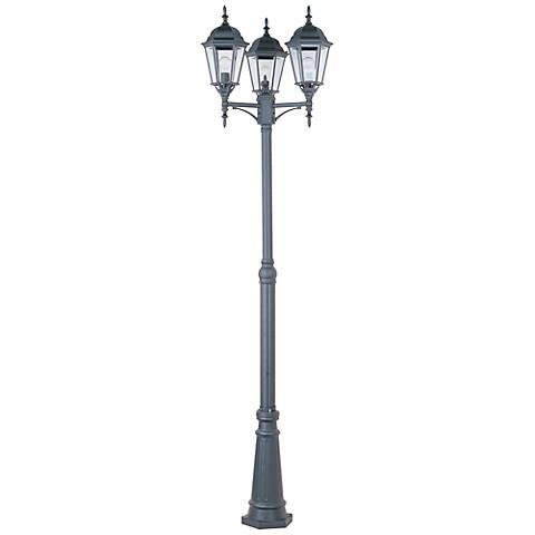 "Maxim Poles 100"" High Black 3-Light Outdoor Post Light"