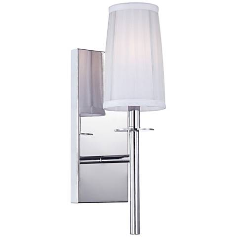 "Candence 17"" High Silver Organza Shade Chrome Wall Sconce"