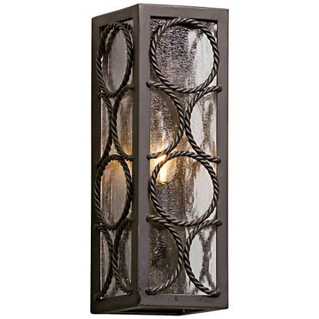 """Bacchus 14"""" High Textured Bronze 1-Light Outdoor Wall Light"""