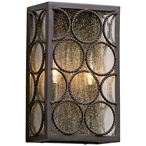 """Bacchus 14"""" High Textured Bronze 2-Light Outdoor Wall Light"""