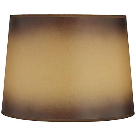 Brown Parchment Paper Empire Lamp Shade 13x15x11 (Spider)