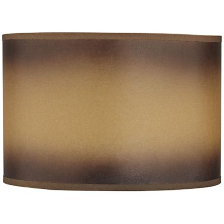 Brown Parchment Paper Drum Lamp Shade 12x12x8 (Spider)