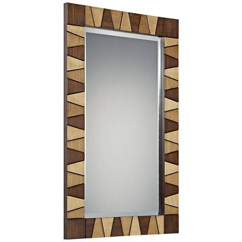 "Quoizel Woodmere 3-Tone 23 3/4"" x 39 1/2"" Wall Mirror"