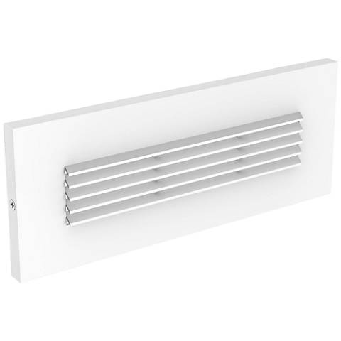 "LBL Lighting Louver 8 1/2"" Wide White LED Step Light"