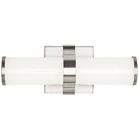 "LBL Lighting Lynk 12"" Wide Satin Nickel LED Bath Light"
