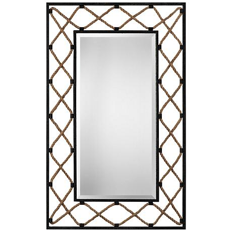 "Uttermost Darya Black 32 1/4"" x 52"" Nautical Wall Mirror"
