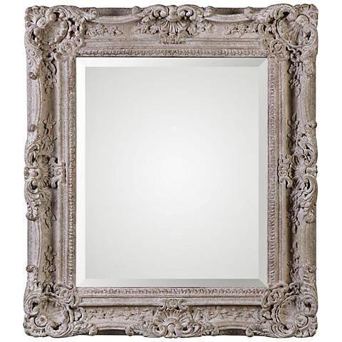 """Uttermost Sormonne Ivory 29 1/4"""" x 32 3/4"""" Wall Mirror"""