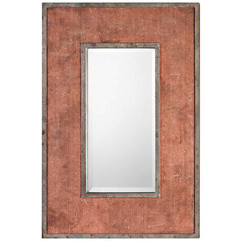 "Uttermost Lassen Rust Red 21 1/2"" x 31 1/4"" Wall Mirror"