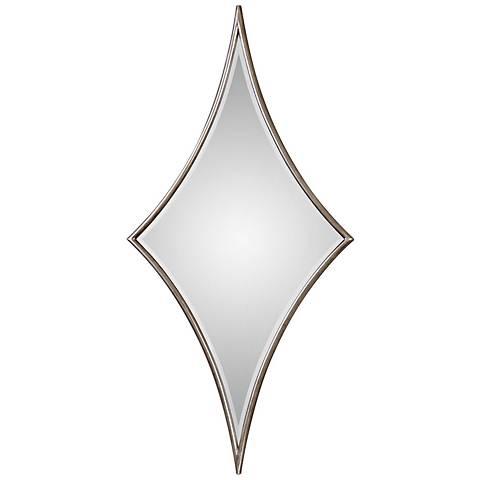 "Uttermost Vesle Silver Leaf 30"" x 60"" Diamond Wall Mirror"