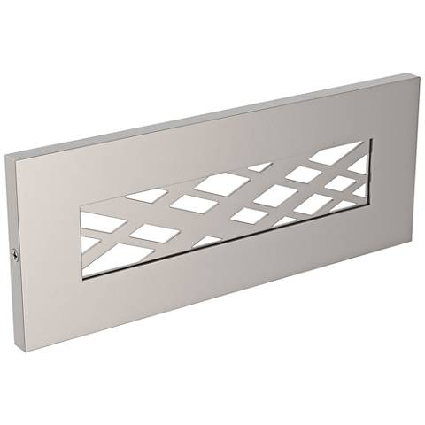 "LBL Lighting Tartan 8 1/2"" Wide Satin Nickel LED Step Light"