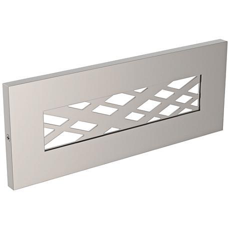 "LBL Lighting Tartan 8 1/2"" Wide Satin Nickel LED Step Light"