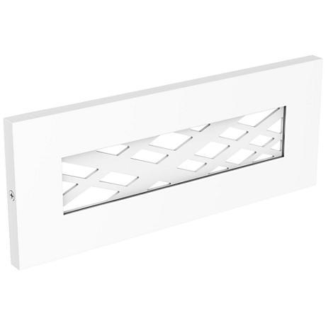 """LBL Lighting Tartan 8 1/2"""" Wide White LED Step Light"""
