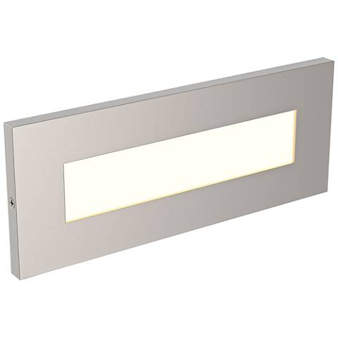"LBL Lighting Vitra 8 1/2"" Wide Satin Nickel LED Step Light"
