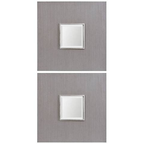 "Uttermost Scotten Gray 24 1/4"" Square Mirror Set of 2"