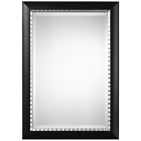 """Uttermost Bauman Black 30"""" x 42"""" Rectangle Wall Mirror"""
