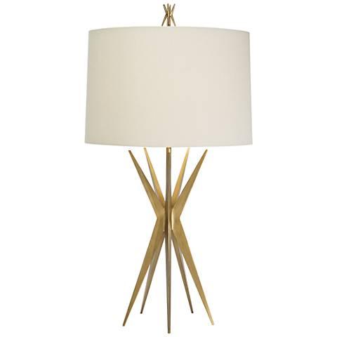 Natural Light Starfall Gilded Gold Iron Metal Table Lamp