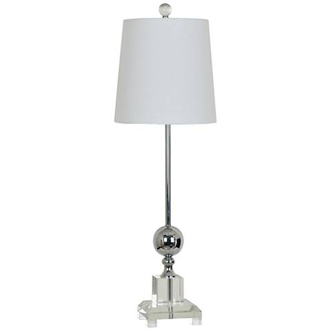Crestview Collection Sona Nickel Buffet Lamp