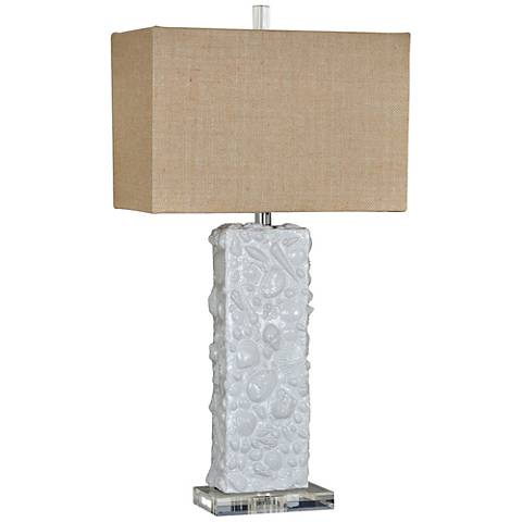 Crestview Collection Shea White Ceramic Table Lamp